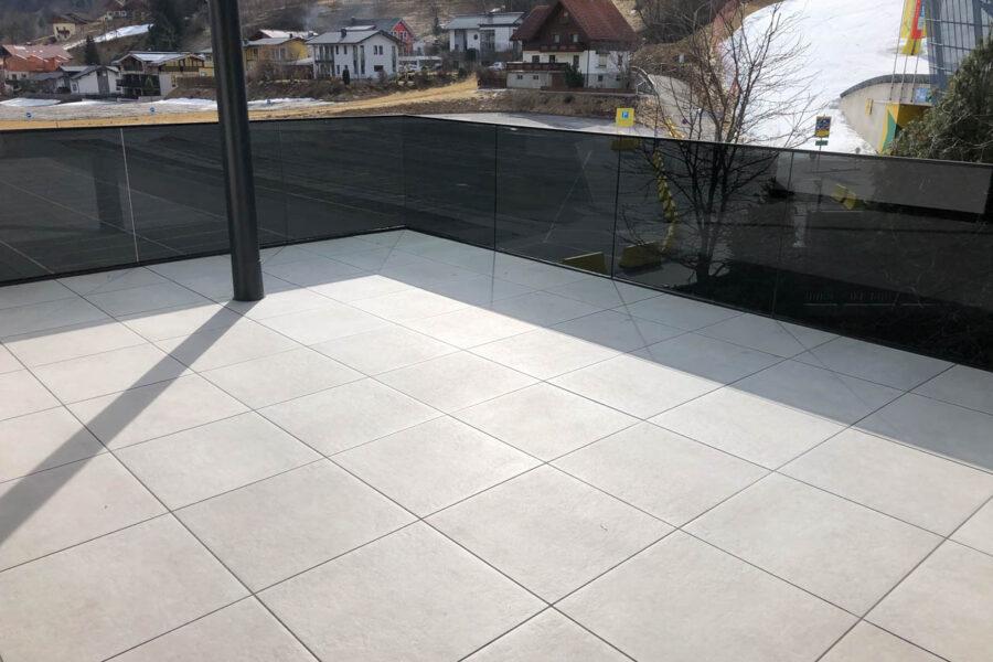 Terrassenplattenverlegung Außenbereich – Privathaus W.